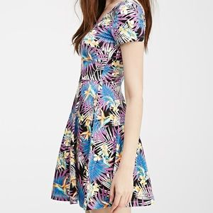 Tropical printed dress